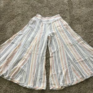 FREE PEOPLE BLAIRE EXTREME FLARE STRIPE WIDE PANTS